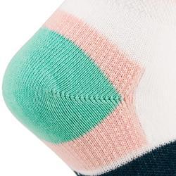 Tennissocken RS 160 Mid 3er Pack Kinder rosa/grün