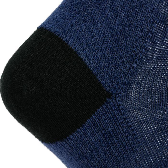 Halfhoge sportsokken kinderen Artengo RS160 marineblauw 3 paar - 1247605