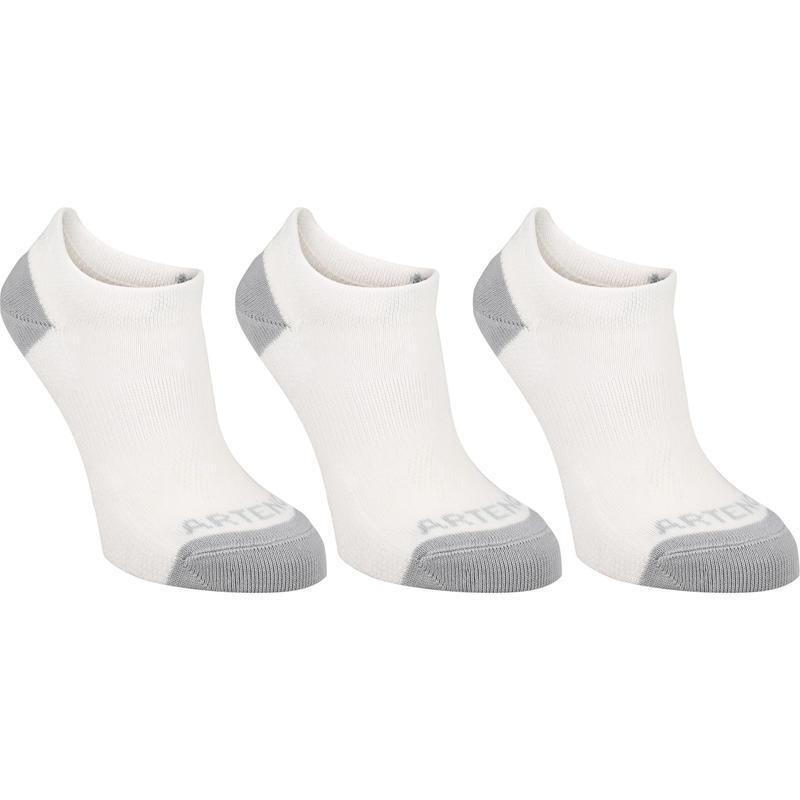 Gói 3 đôi tất thể thao cổ ngắn RS160 cho trẻ em - Trắng