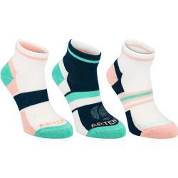 青少年中筒運動襪 3雙入 RS 160 - 粉紅/綠色