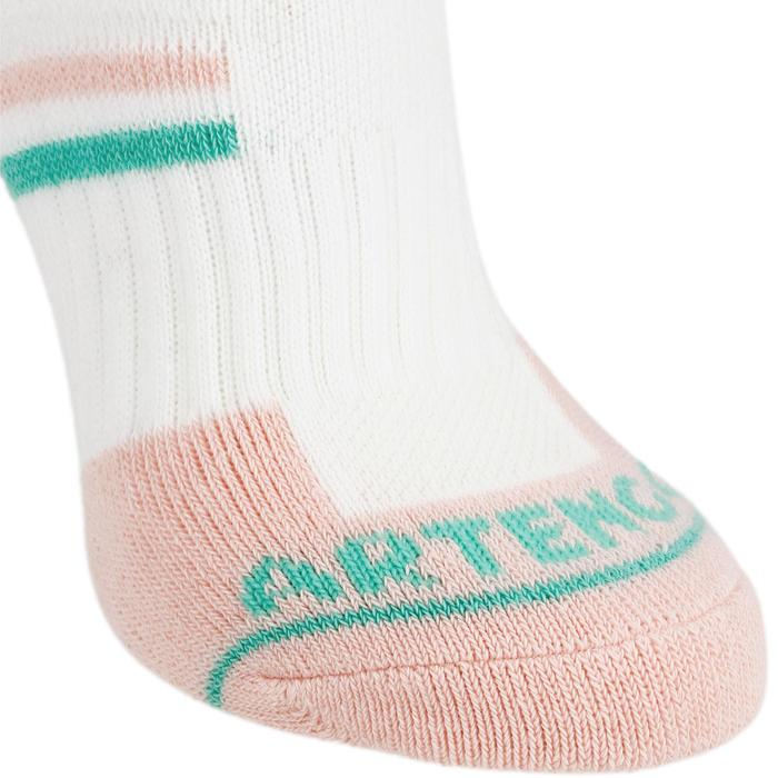 Tennissocken RS 500 Mid Kinder 3er Pack weiß/rosa