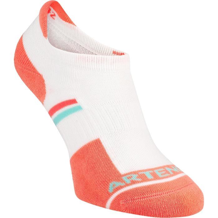Korte sportsokken voor volwassenen Artengo RS 500 wit/oranje 3 paar