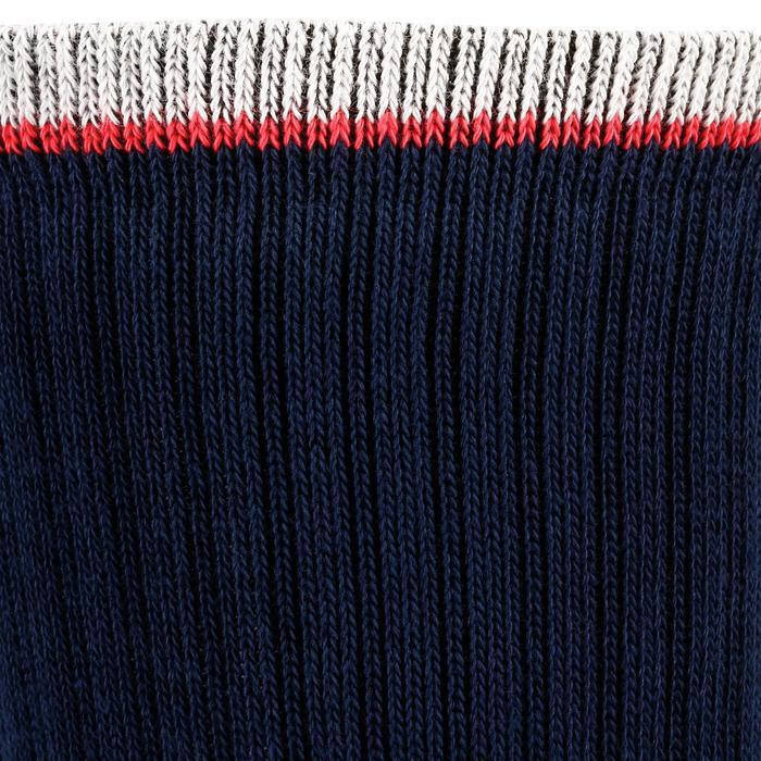 Hoge sportsokken voor volwassenen Artengo RS 500 blauw rood 3 paar
