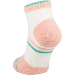 RS 500 Junior Mid-Length Sports Socks Tri-Pack - White/Pink