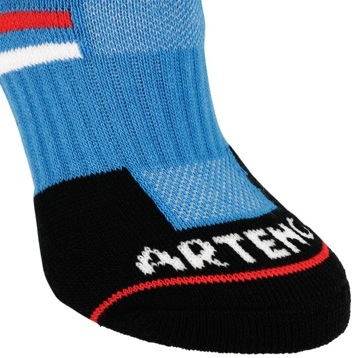 Tennissocken RS 500 Mid 3er Pack Kinder blau/schwarz
