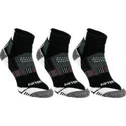 Halfhoge sportsokken voor volwassenen Artengo RS 900 zwart/wit 3 paar
