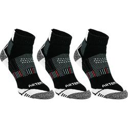 RS 900 Adult Mid Sports Socks Tri-Pack - White and Grey