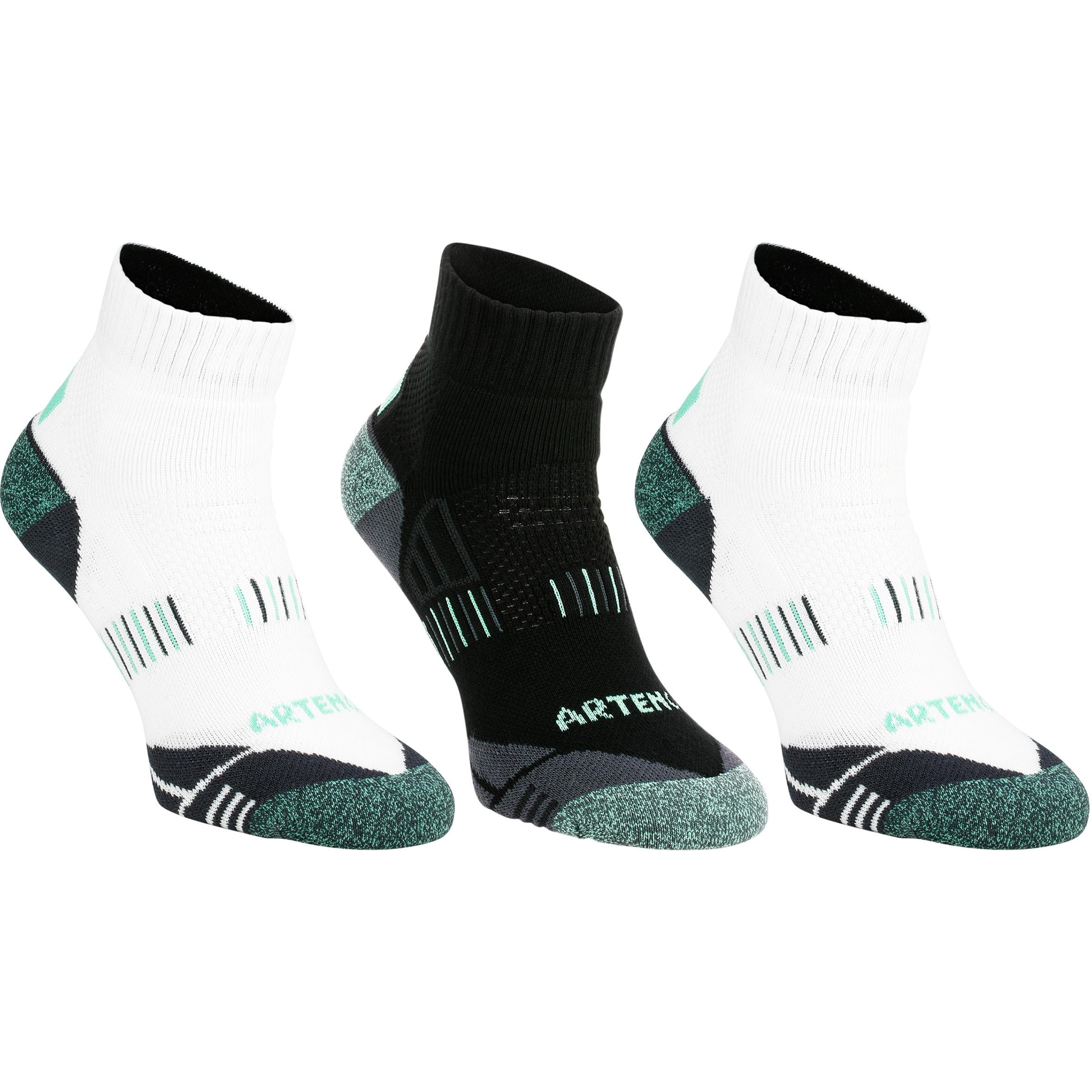 RS 900 Adult Mid Sport Socks 3-Pack - White/Green