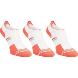 RS500 Adult Low Sports Socks Tri-Pack - White/Orange