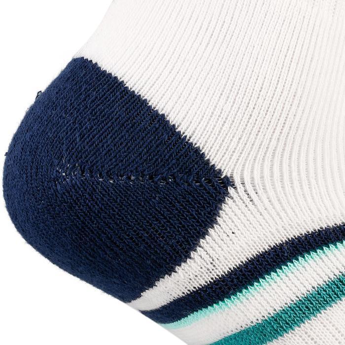 Hoge sportsokken voor volwassenen Artengo RS 500 wit marineblauw groen 3 paar