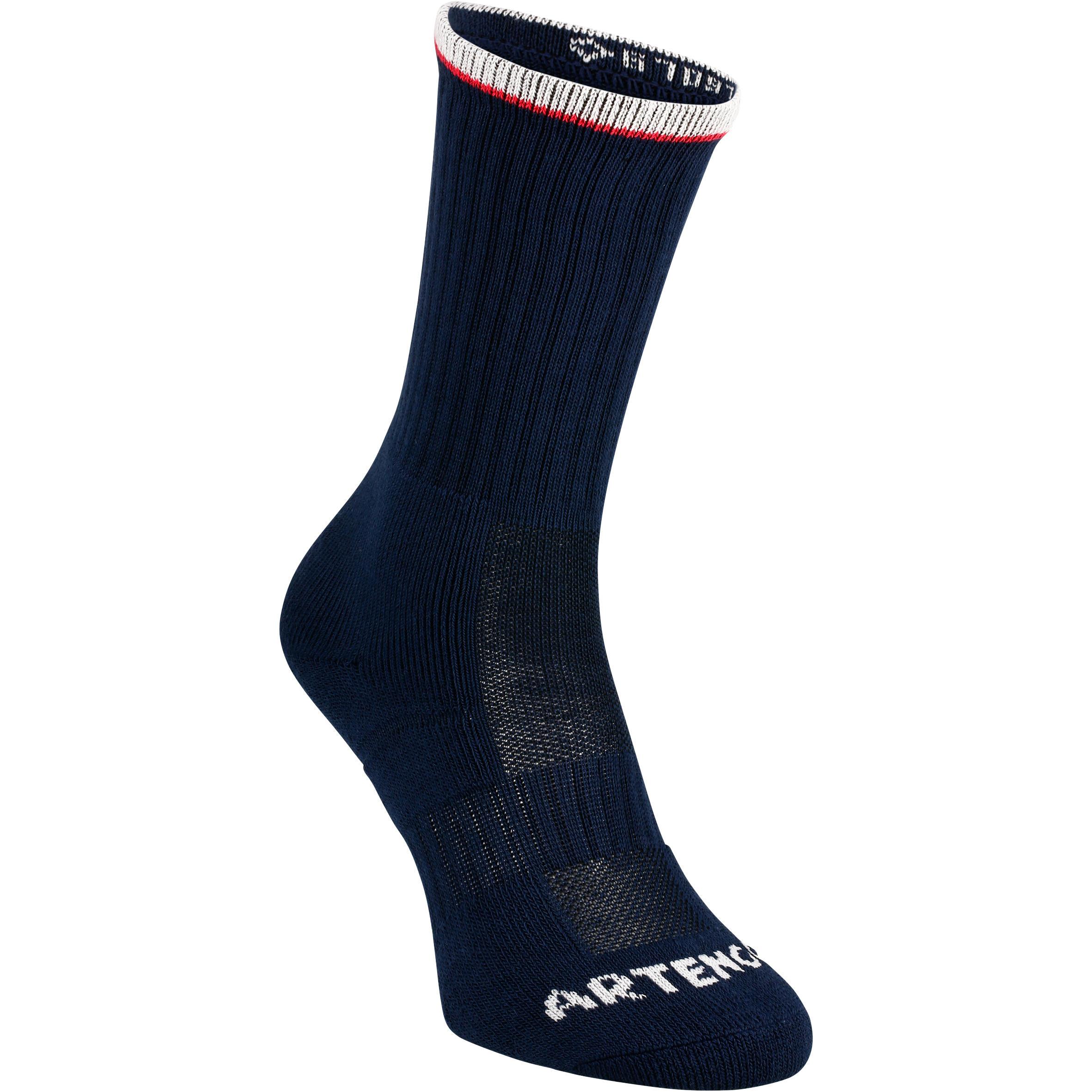 RS500 Adult High Sport Socks Tri-Pack - Blue/Red