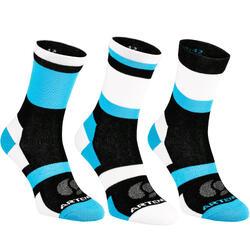 RS 160高筒襪三雙包 -天空藍/黑色