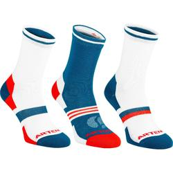 Tennissocken RS 160 High 3er Pack Erwachsene blau/orange