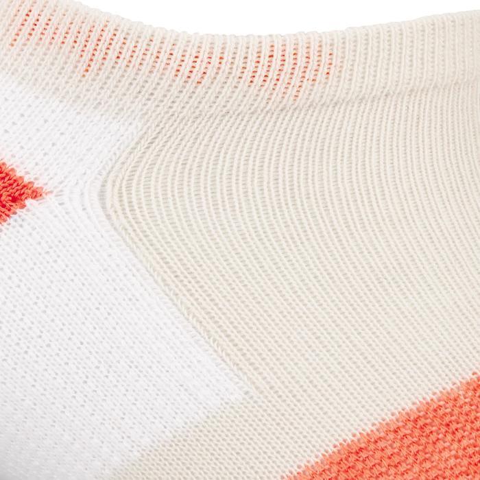 Lage sportsokken Artengo RS 160 grijs/oranje 3 paar