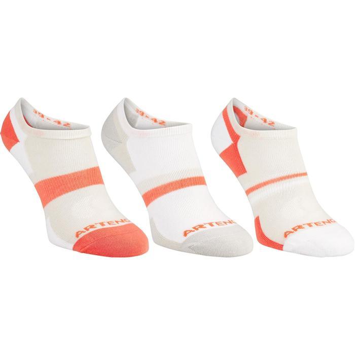 Tennissocken RS 160 Low 3er Pack grau/orange