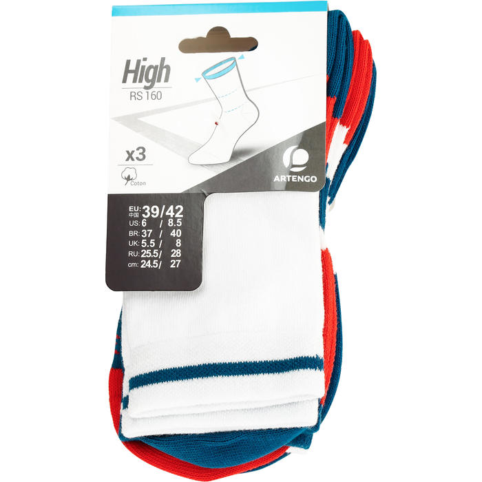 RS 160 High Sports Socks 3-Pack - Blue/Orange