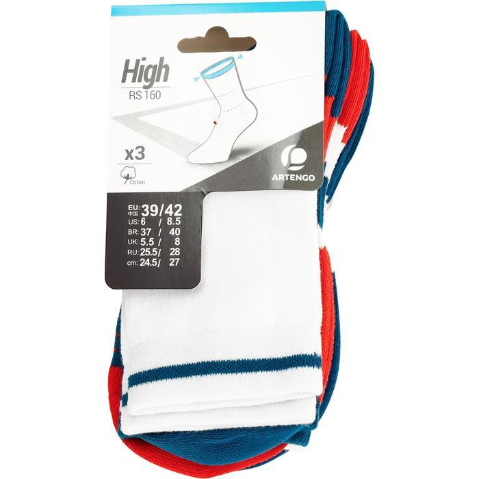 Tennissocken RS 160 High 3er Pack Erwachsene blau/orange