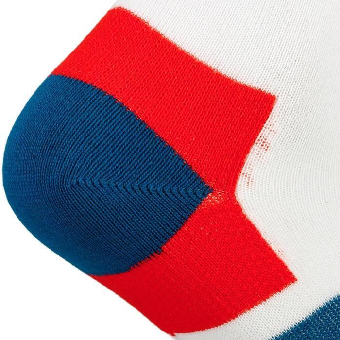 Hoge sportsokken Artengo RS 160 blauw/oranje set van 3 paar