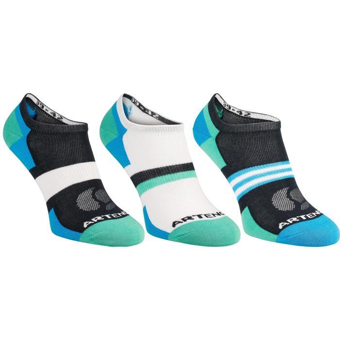 Tennissocken RS160 Low 3er Pack Erwachsene blau grün