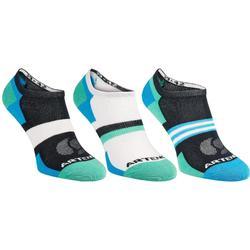 Lage sportsokken Artengo RS160 blauw groen 3 paar