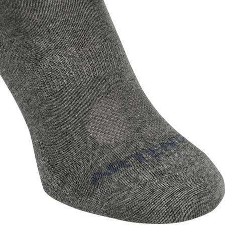 Високі шкарпетки 160 для тенісу, 3 пари - Сірі