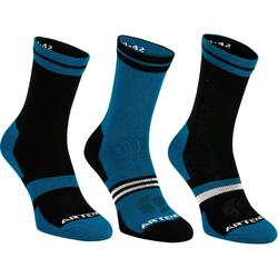Tennissocken RS 160 High 3er Pack blau/schwarz