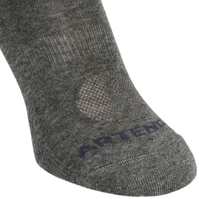 3雙入中高筒網球運動襪RS 160-深灰色