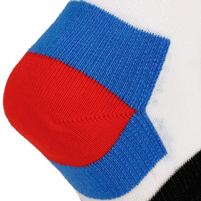 Halfhoge sportsokken voor kinderen Artengo RS 160 wit/blauw 3 paar - 1247813