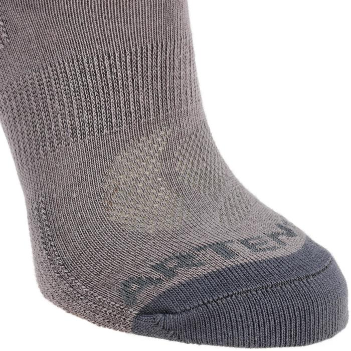 Kids' High Tennis Socks RS 160 Tri-Pack - Grey