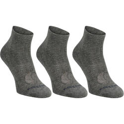 Mid-High Tennis Socks RS 160 Tri-Pack - Dark Grey