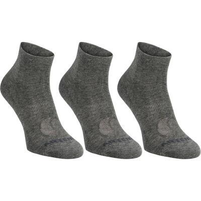 Середні шкарпетки 160 для тенісу, 3 пари - Темно-сірі