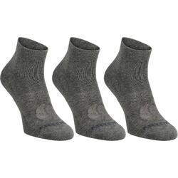 3雙入中筒運動襪RS 160–深灰色