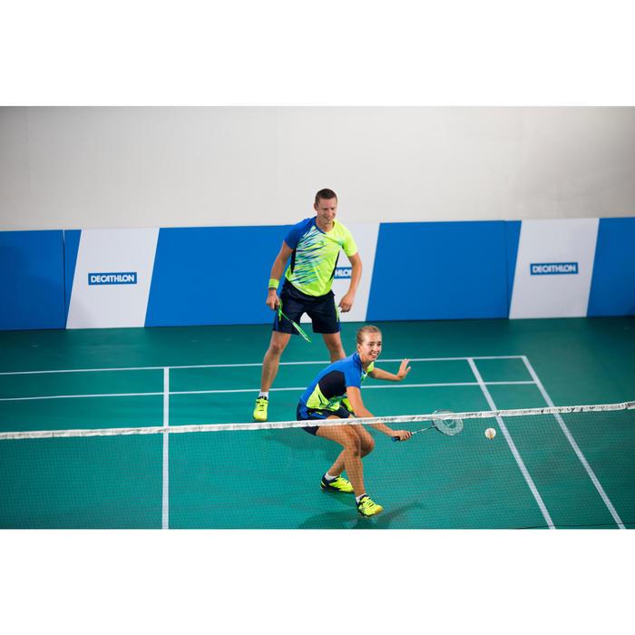 Artengo herenshort 860 marineblauw/geel badminton
