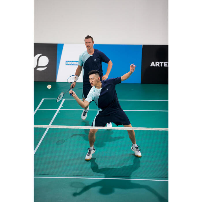 Badmintonschuhe BS760 Herren weiß/blau