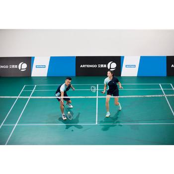 Badminton T-shirt 830 voor dames marineblauw