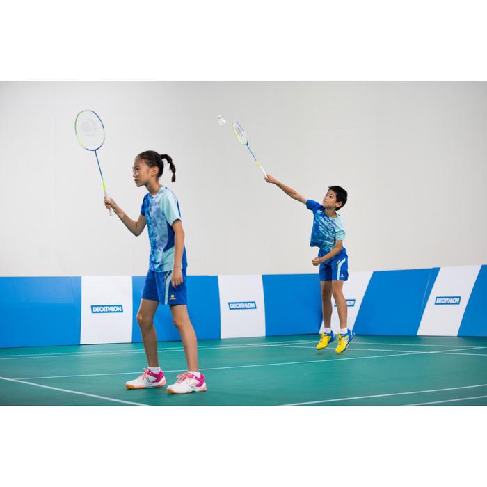 Badminton shirt 860 Dry voor kinderen lichtblauw