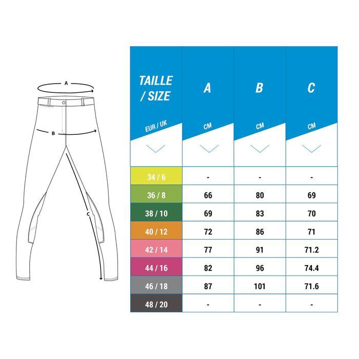Pantalon Concours équitation femme BR100 blanc - 1248527