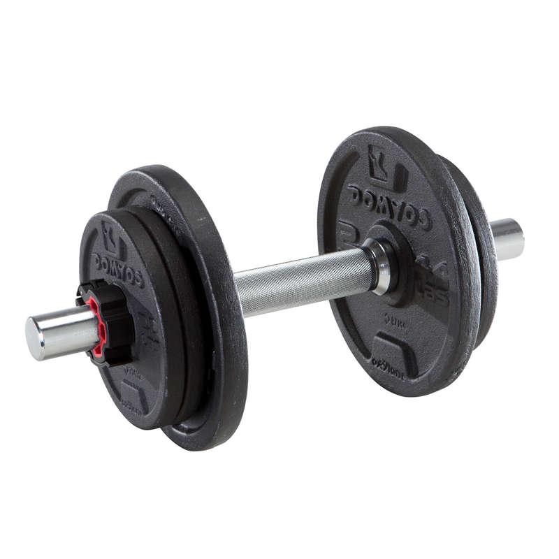 BODYBUILDING GREUTĂȚI LIBERE - GREUTĂȚI / ECHIPAMENT Fitness Cardio, Bodybuilding, Crosstraining, Pilates - Kit ganteră 10 kg DOMYOS - Bodybuilding