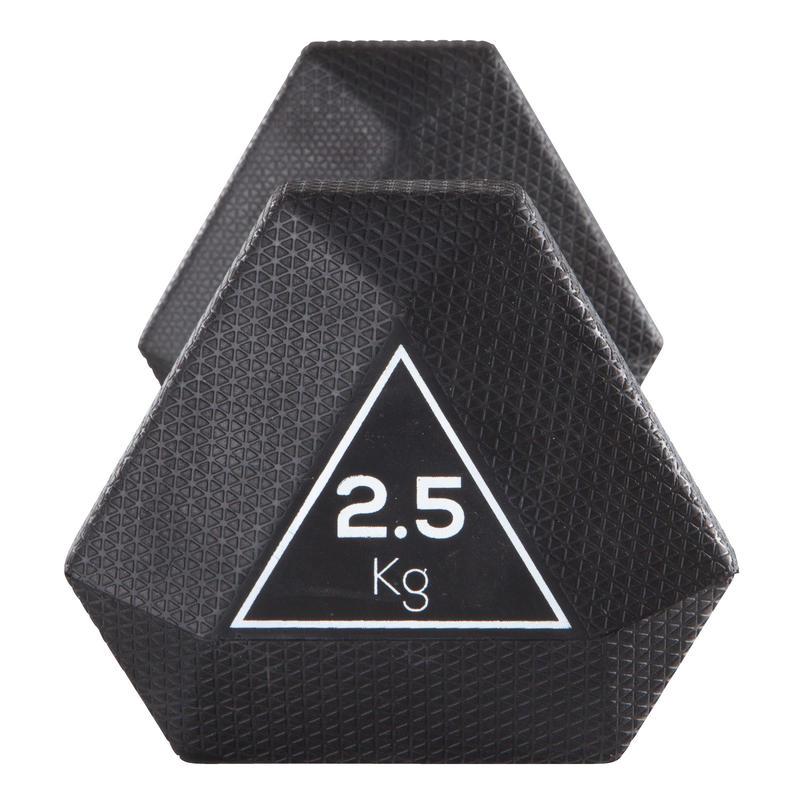 Hex Dumbbell 2.5 kg - Black