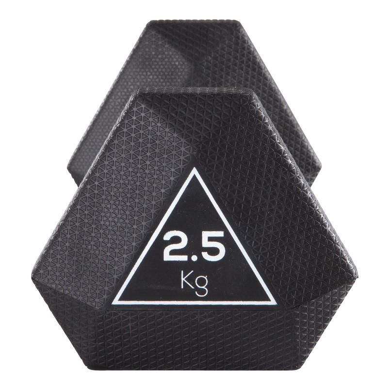 Dumbbell Set Decathlon: Hex Dumbbell 2.5 Kg