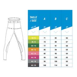 Pantalon équitation femme BR700 basanes gris bleuté