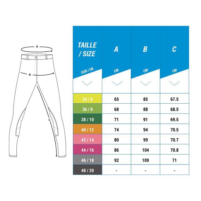 Pantalon Concours équitation femme BR980 fullgrip assise complète silicone blanc - 1248596