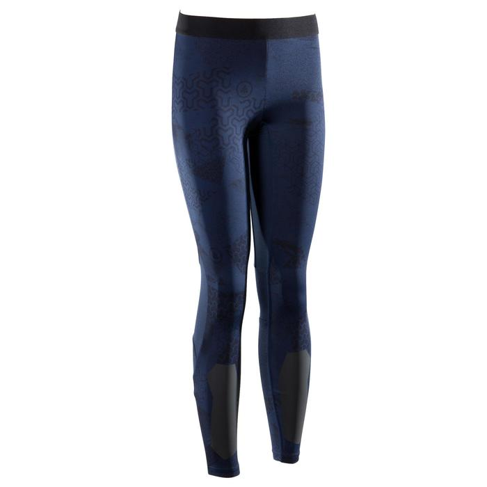 Leggings 500 Crosstraining Damen blau