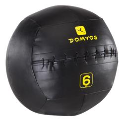 Balon Pilates Domyos Negro/Amarillo 6 Kg Lastrado Wall Ball Cross Training