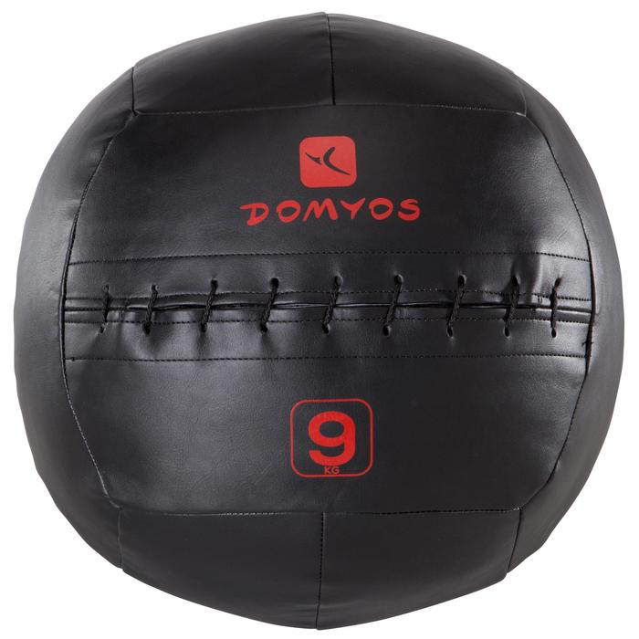 Balon Cross Training Pilates Domyos Negro/Rojo 9 Kg Balón Lastrado Wall Ball