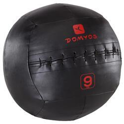 Balon Pilates Domyos Negro/Rojo 9 Kg Balón Lastrado Wall Ball Cross Training