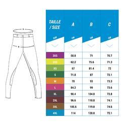 Damesrijbroek 140 Stripe met antislip knie-inzetten marineblauw