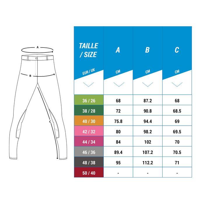 Pantalon équitation homme BR700 basanes gris et chevron - 1248843