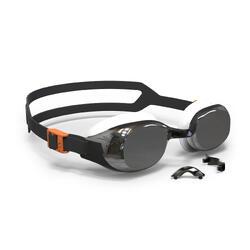 泳鏡500 B-FIT - 黑色/銀色,鏡面鏡片