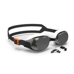 Zwembrilletje B-Fit zwart zilver spiegelende glazen